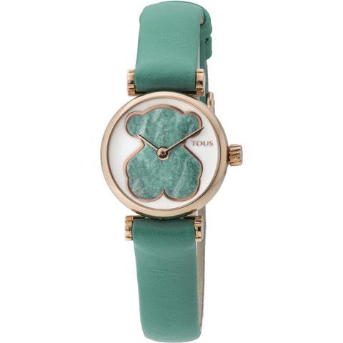 Reloj Camille De Acero Ip Rosado Con Correa De Piel Verde de Tous en 21 Buttons