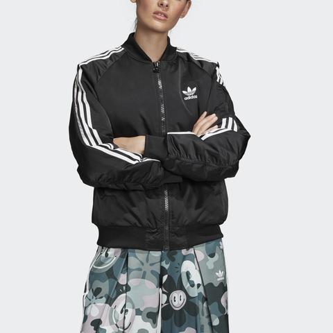 adidas bomber jacket donna nero