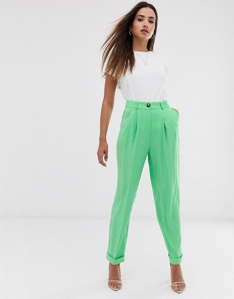 Asos Design - Ultimate - Pantalon Fuselé - Vert Pomme