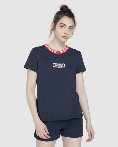 Tommy Jeans - Camiseta De Mujer Con Logo Y Manga Corta de El Corte Ingles en 21 Buttons