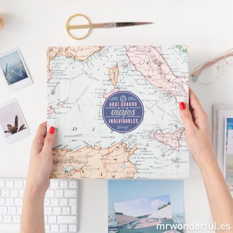 Álbum De Fotos - Aquí Guardo Viajes Inolvidables de Mr Wonderful en 21 Buttons