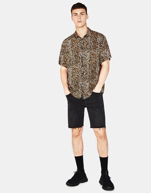 Camisa Con Estampado De Leopardo