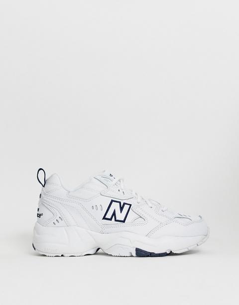 New Balance 608 White Chunky Trainers