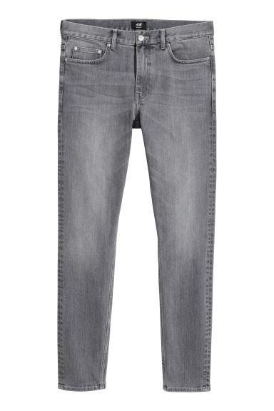 H & M - Skinny Jeans - Gris
