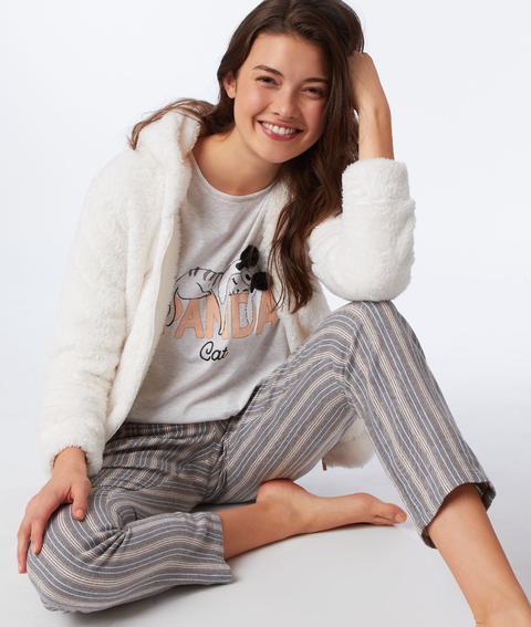 promotion spéciale vente chaude réel Prix de gros 2019 Chemise De Pyjama Nouée À Imprimé Floral - Jarta - Xl - Ecru ...