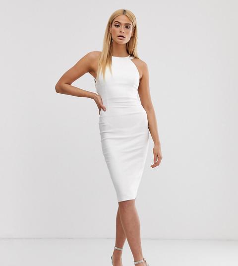 Vestido Midi Blanco Con Parte Posterior A Tiras De Vesper Tall de ASOS en 21 Buttons