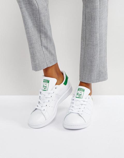 Adidas Originals - Stan Smith - Sneakers Bianche E Verdi - Bianco de ASOS en 21 Buttons