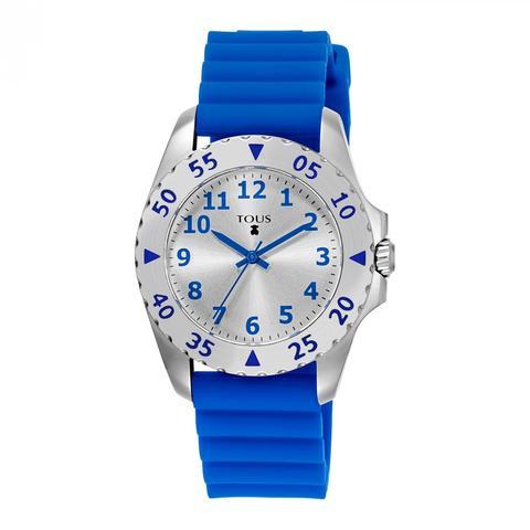 Reloj Motif Kdt De Acero Con Correa De Silicona Azul de Tous en 21 Buttons