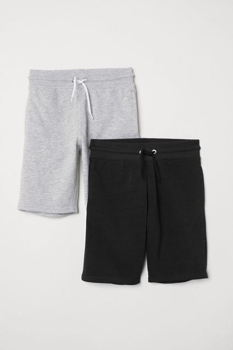 información para 35b79 9e4a3 H & M - 2 Pantalones Cortos De Chándal - Gris