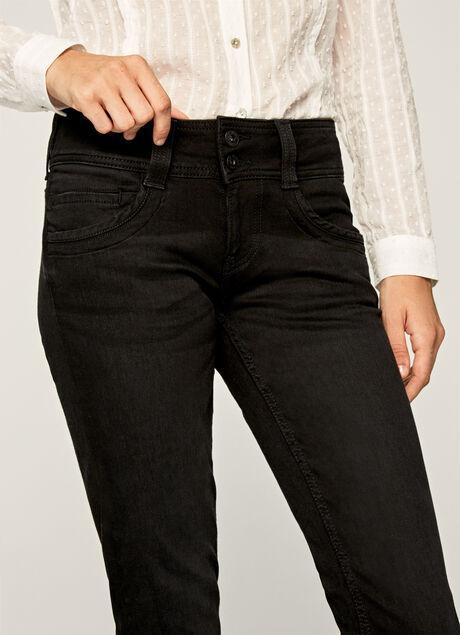 Gen Straight Fit Mid Waist Jeans