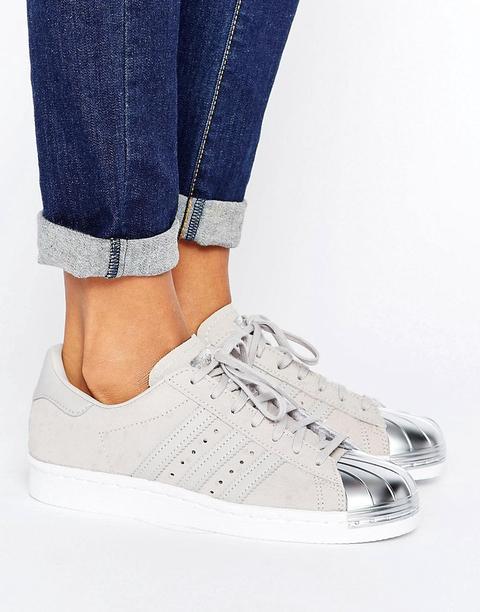 adidas superstar grises y blancas