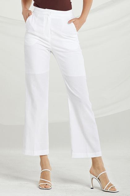Payton Bootcut Linen Pants de Storets en 21 Buttons
