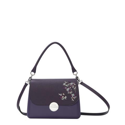 l'atteggiamento migliore 46c61 eb063 O Bag Glam Viola Scuro Con Pattina Fiori 3d from O Bag on 21 Buttons