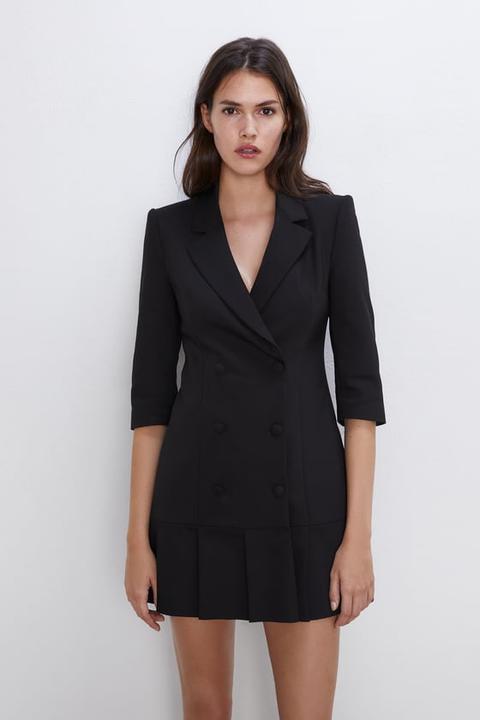 Vestito Blazer Con Pieghe di Zara su 21 Buttons