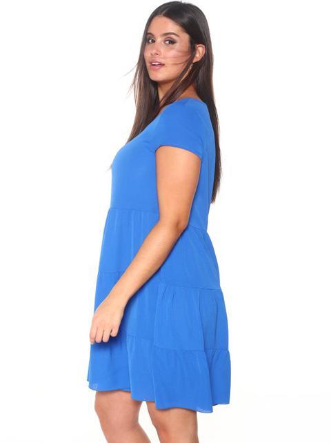 Vestido Volantes Tallas Grandes Azul L From Venca On 21 Buttons