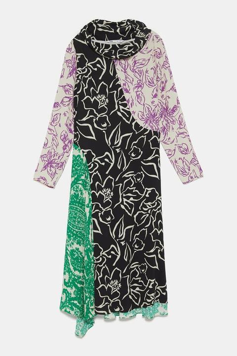 Vestido Estampado Edición Limitada de Zara en 21 Buttons