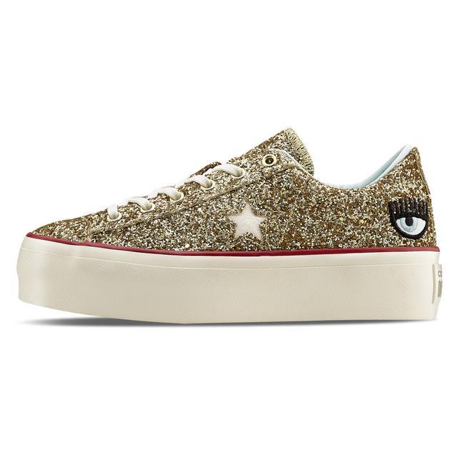 Chiara Ferragni X Converse One Star Platform Glitter di Aw
