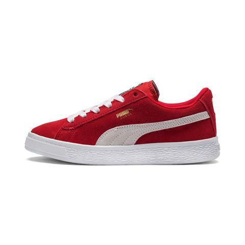Zapatillas De Niño Suede, Blanco/rojo, Talla 27.5   Puma de Puma en 21 Buttons