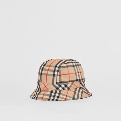 Sombrero De Pesca A Cuadros Vintage Checks (beige) | Burberry