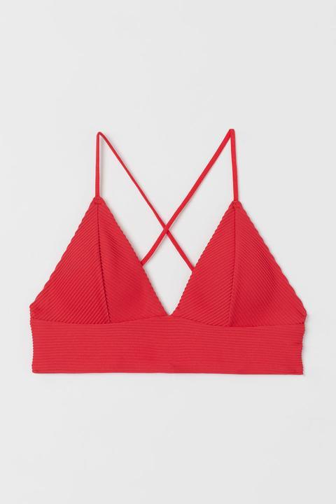 Top De Bikini Con Relleno - Rojo