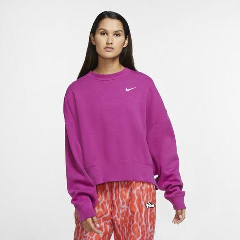 Nike Sportswear Essential Sudadera De Tejido Fleece - Mujer - Morado