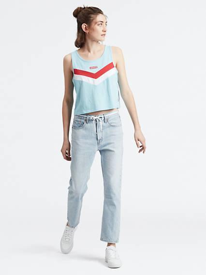 501® Crop Jeans Azul / Montgomery Baked de Levi's en 21 Buttons
