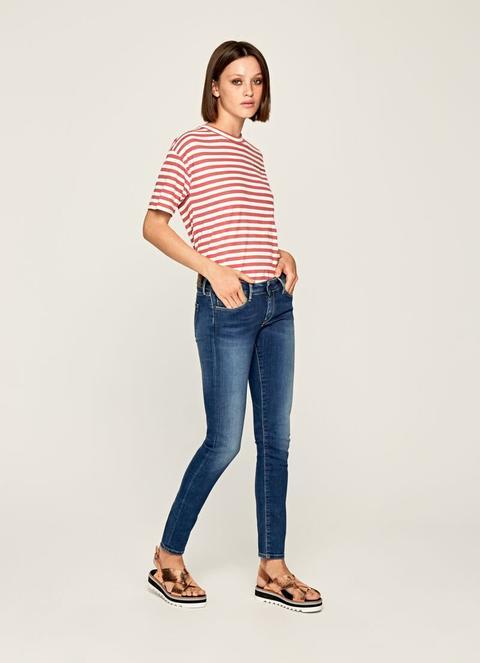 Soho Skinny Fit Mid Waist Jeans de Pepe Jeans en 21 Buttons