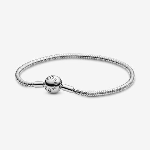 Pandora Moments Snake Chain Bracelet - Sterling Silver