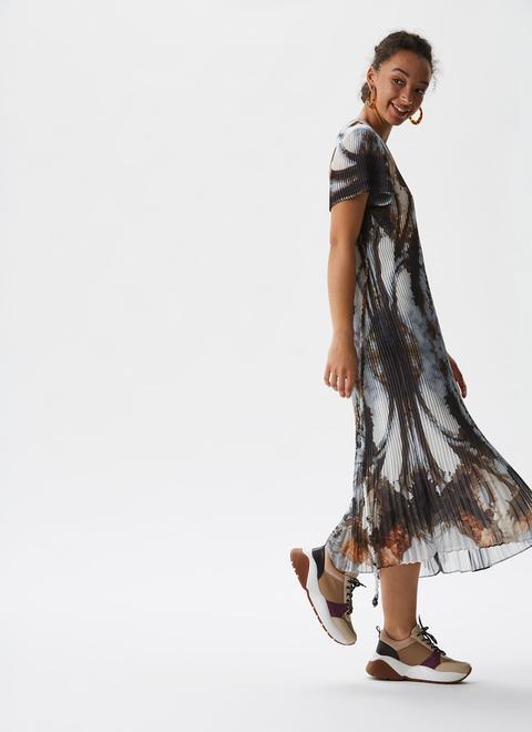 Vestido De Crinkle Con Print De Autor de Adolfo Dominguez en 21 Buttons