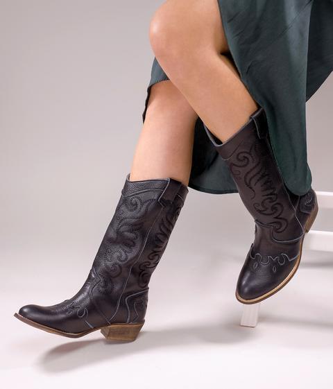 Bosanova - Botas Cowboy Piel - Color: Negro de Bosanova en 21 Buttons