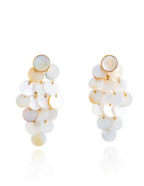 Pendientes Maldives Blanco de Lavani Jewels en 21 Buttons