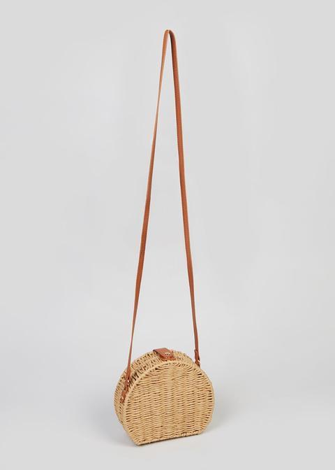 Straw Dome Cross Body Bag