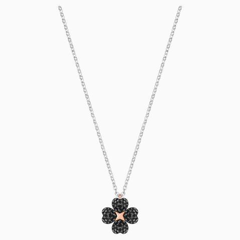 Colgante Latisha Flower, Negro, Combinación De Acabados Metálicos de Swarovski en 21 Buttons