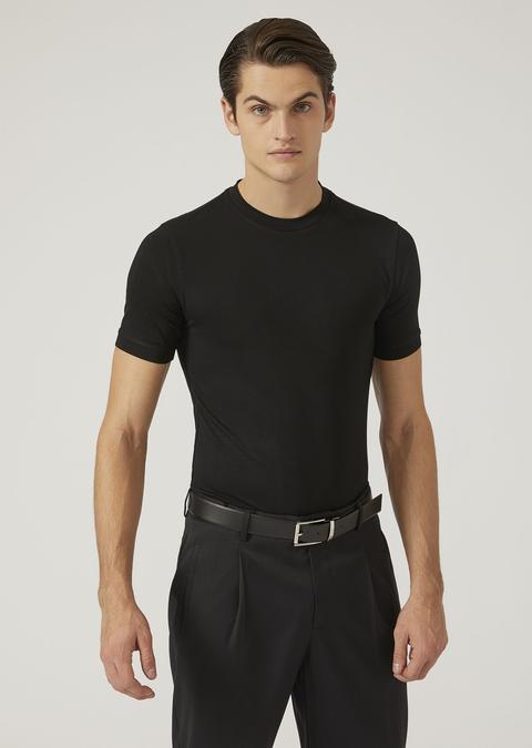 T Shirt In Jersey Stretch de ARMANI en 21 Buttons