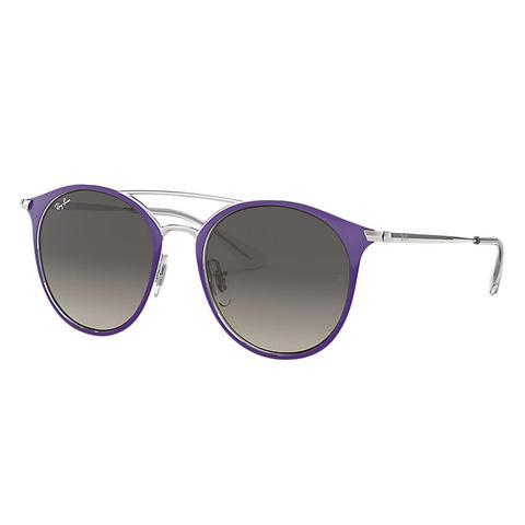 Rj9545s Unisex Sunglasses Lentes: Gris, Montura: Plata de Ray-Ban en 21 Buttons
