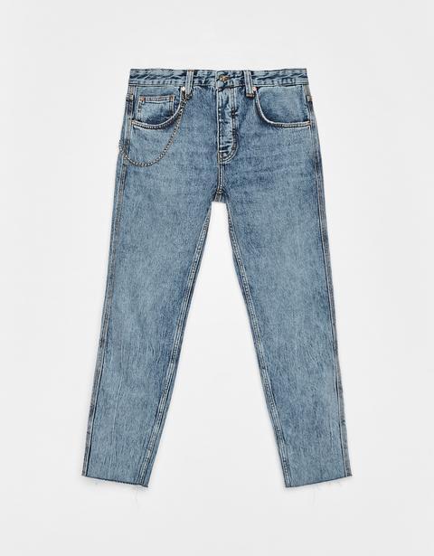 Jeans Slim Fit Con Catena