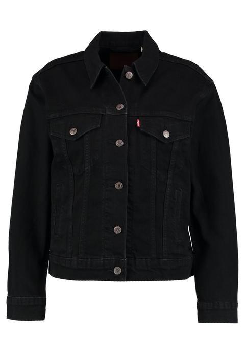 newest dd594 6ba04 Levi's® Ex Boyfriend Trucker Giacca Di Jeans Onyx At Midnight from Zalando  on 21 Buttons