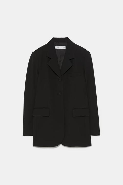 Blazer Recta Bolsillos de Zara en 21 Buttons