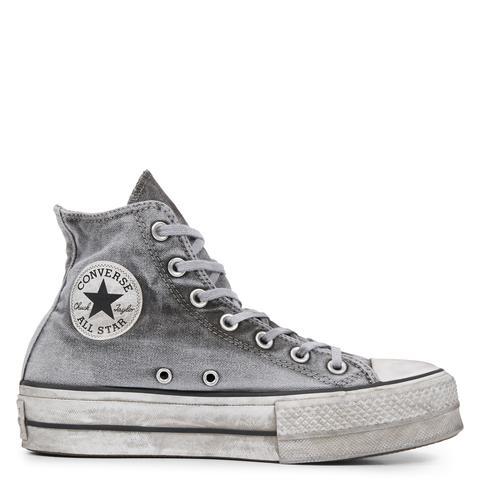 Converse Chuck Taylor All Star Lift Smoked Canvas High Top Grey de Converse en 21 Buttons