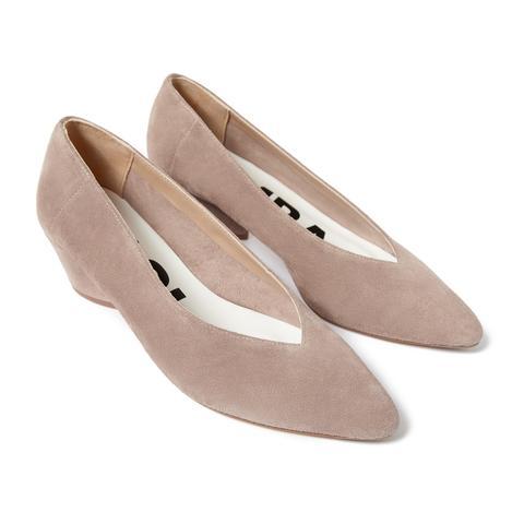 Zapato Salón Serraje Rosa