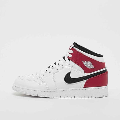 Air Jordan 1 Mid White/black/gym Red