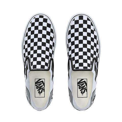Vans Zapatillas Checkerboard Flame Classic Slip-on ((checkerboard Flame) Black/true White) Mujer Negro