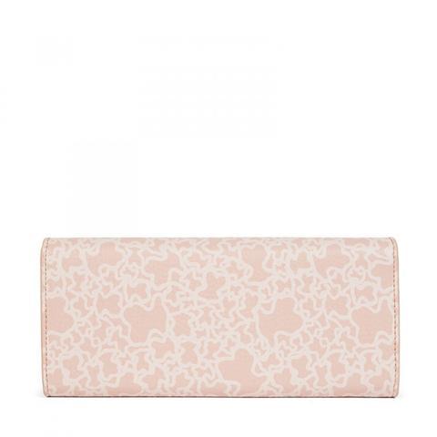 Billetero Grande Kaos Mini De Lona En Color Rosa