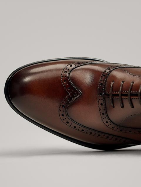 Zapato Vestir Picados Cuero de Massimo  Dutti en 21 Buttons