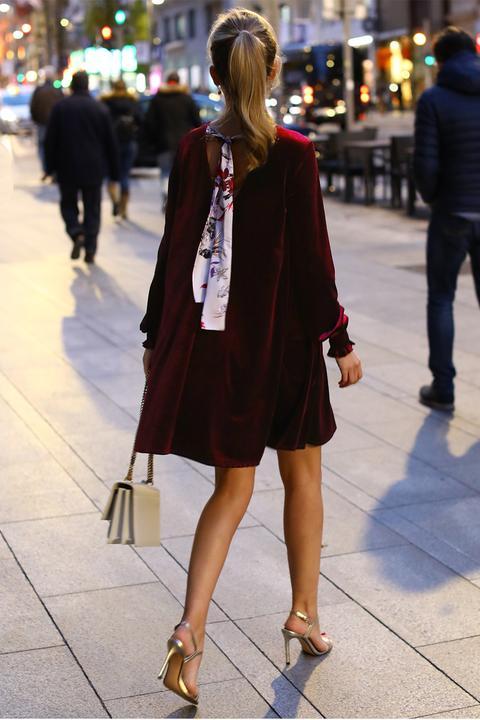Vestido Velvet Granate