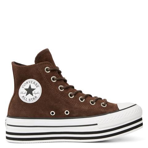 Converse Chuck Taylor All Star Platform Suede High Top de Converse en 21 Buttons