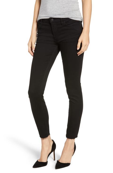 Hudson Tally Raw Hem Crop Skinny Jeans