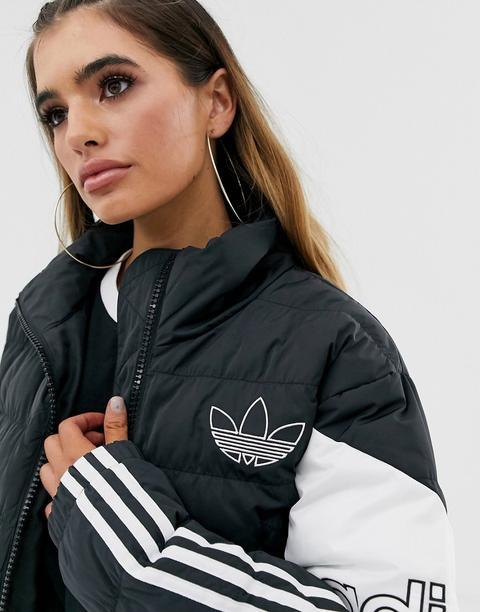 adidas cropped puffer jacket