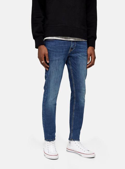 Mens Jack & Jones Blue Skinny Jeans, Blue