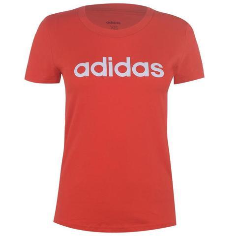 adidas Linear QT T Shirt Ladies